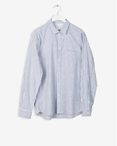 M. Peter Striped Shirt Navy/white