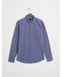 Mvp Clovelly End-on-end Slim Fit Shirt  Indigo