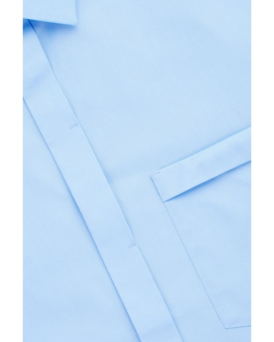 COS Fold-sleeve Shirt Blue