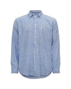 Pop Over Shirt Blue Stripes