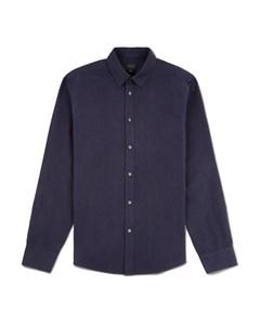 Tinsley Cotton Poplin Slim Fit Shirt Navy