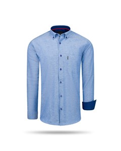 Cappuccino Italia Regular Fit Overhemd Royal Blue