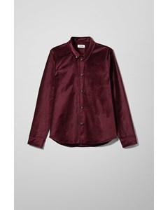 Loa Velvet Overshirt Red