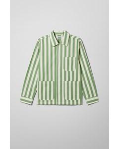 Josh Striped Overshirt Green