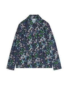 Printed Twill Overshirt Blue/patterned