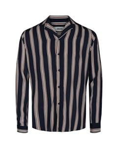 6200119, Shirt - Harris Ls Cuba Stripe Insignia B