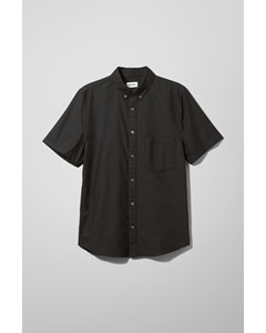 Henrik Oxford S/s Shirt Black