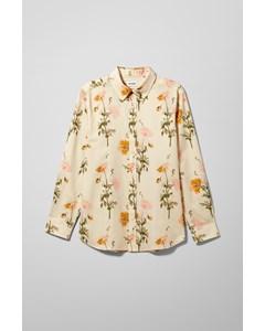 Kent Flower Shirt Beige