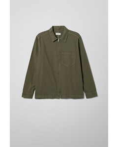 Tidy Forest Green Denim Shirt Green