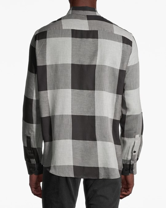 H&M Bankcheck Flannel Shirt Grey