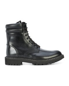 High Military Boots  Bottle Green