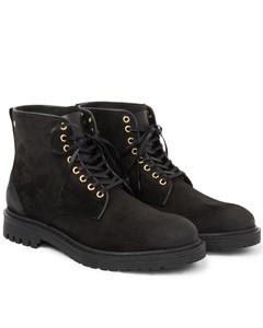 Sharp Suede Shoe Black