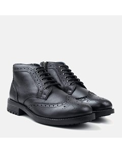 Zip & Lace Brogue Boot Black