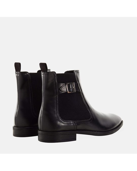 Redfoot Shoes Buckle Chelsea Boot Black