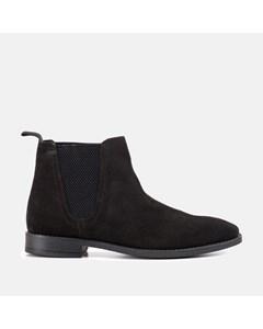 Square Toe Chlesea Boot Black