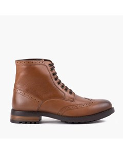 Mens Black Brogue Boot Tan