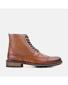 Mens Gs Archer Tan Brogue Boot