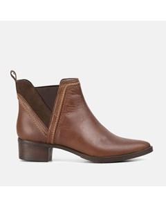 Ladies Brown Pointed Toe Chelsea Boot