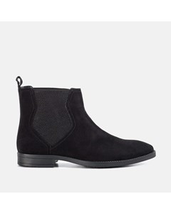Mens Rf Thomas Black Suede Chelsea Boot