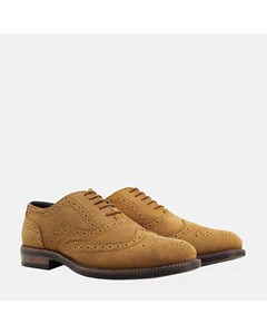 Suede Water Resistant Brogue Tan