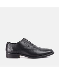 Mens Leather Oxford Brogue Black