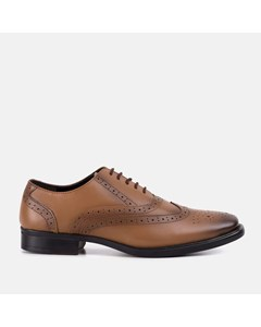 Mens Burnished Tan Oxford Brogue Shoe