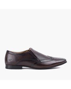 Slip On Shoe With Brogue Detail, Brn.