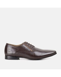 Derby Shoe With Contrast Facing Detail, Brown