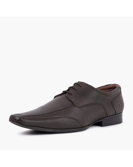 Redfoot Shoes Brown Chiselled Toe Derby
