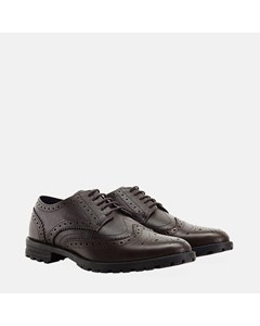 Mens Brown New Edenfield Derby Brogue Shoe