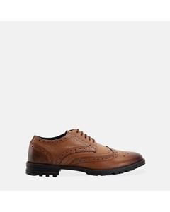 Mens Tan New Edenfield Derby Brogue Shoe