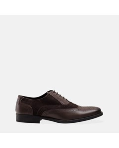 Mens Brown & Stone Gatsby Brogue Shoe
