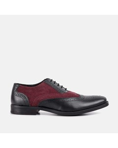Mens Burg & Black Gatsby Brogue Shoe