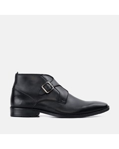 Mens Logan Black Monk Strap Boot