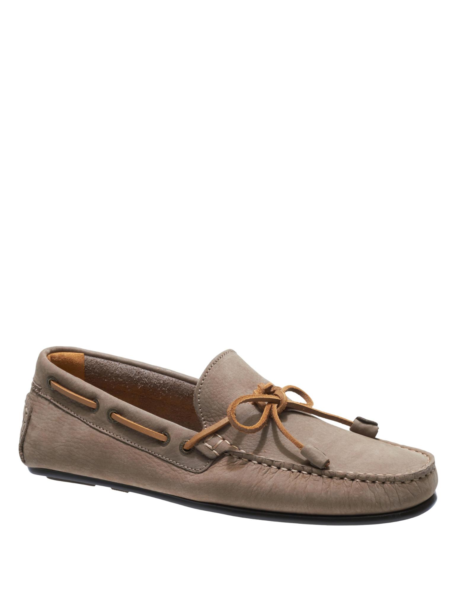 Sebago Men's Tirso Tie Leather Taupe Loafers Beige bis zu