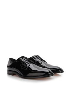 Patent Derby Shoes  Black