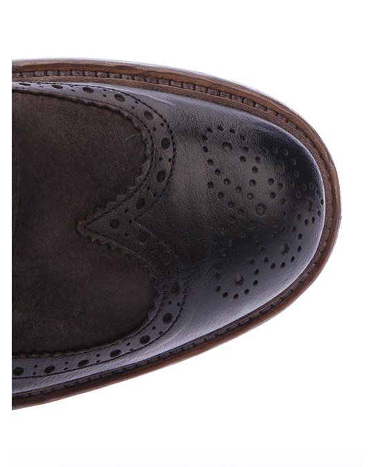 Al Duca D'aosta 1902 Suede And Leather Shoes Brown