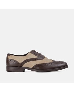 Rf Thompson Brown & Stone  Leather Suede Brogue Brown