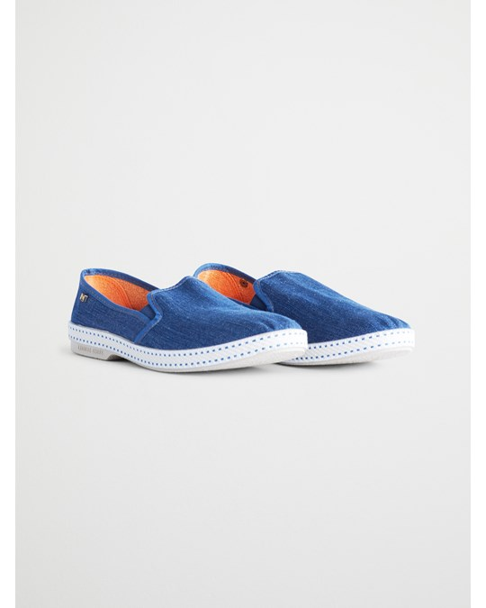 Rivieras Perforated Slip On Shoes Blue