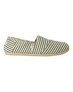 Striped Espadrilles Classic Surfy Green/beige