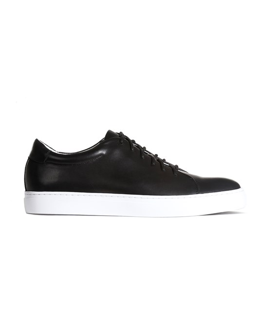 SIR of Sweden Wallace Black Leather Sneakers
