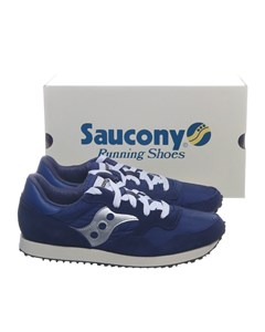 Saucony, Sneakers, Strl: 42.5, Dxn Trainer Vintage, Blå/silverfärgad, Mocka
