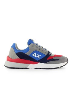 Sun68 Yaki Royal Blue Red Grey Sneaker
