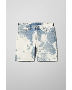 Honest Bleach Denim Shorts Blue