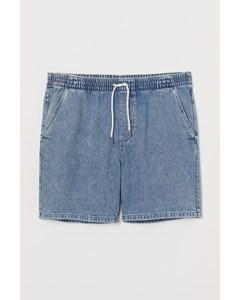 Jeansshorts Med Resår Ljus Denimblå
