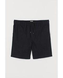 Shorts I Linmix Svart