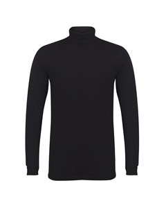 Skinni Fit Mens Feel Good Roll Neck Long Sleeve Top