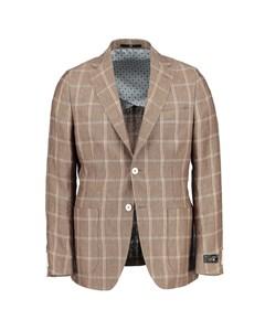 Ness Brown Checked Blazer