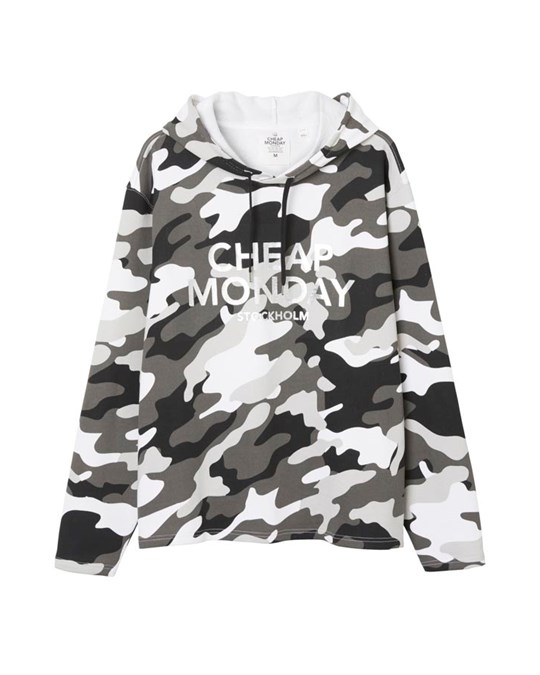 Cheap Monday Pullover 2 Hood After Camo L Black