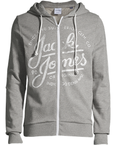Jornadar Sweat Zip Hood Ka Light Grey Melange-light Grey